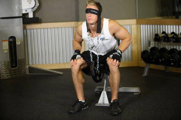 گردن نشسته با وزنه