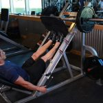 ساق روی دستگاه پرس پا