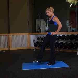 کشش چرخشی ساق برای خانم ها